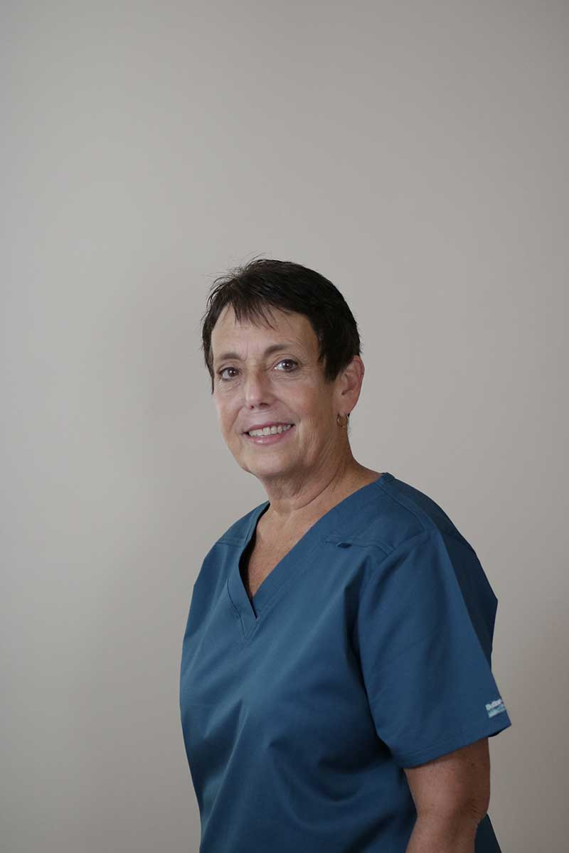 Headshot of clinic staff member Julie